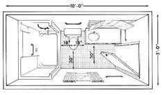 4x8 Bathroom Plan Bing Images Bathrooms In 2019
