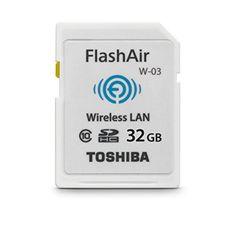 Toshiba 32GB FlashAir III Wireless SD Memory Card, White,(PFW032U-1CCW)…