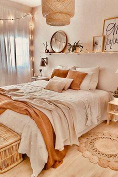 Room Design Bedroom, Room Ideas Bedroom, Home Decor Bedroom, Bedroom Inspo, Dream Rooms, Dream Bedroom, Tan Bedroom, Bedroom Yellow, Cozy Room