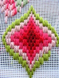 bargello wip by elsy965, via Flickr