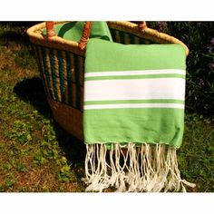 Foutas are hand woven in Tunisia. Made on traditional  looms in the traditional style they come in traditional sizes.