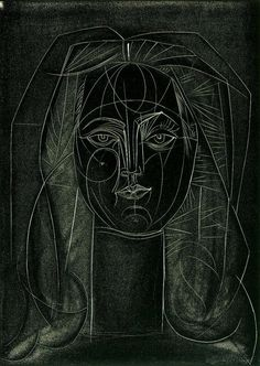 Pablo Picasso Portrait of Françoise Gilot Lithograph on Wove Paper 1946.
