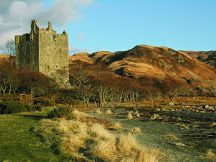 Moy Castle.... Lochbuie, Isle Of Mull, Scotland......built around 1450 by the 1st Laird if Lochbuie , and was abandoned in 1752.