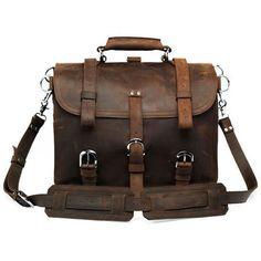 Vintage Handmade Crazy Horse Leather Travel Bag / Duffle - ( Backpack / Messenger )