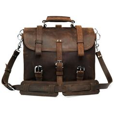 Vintage Handmade Crazy Horse Leather Travel Bag / Duffle - (backpack…