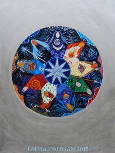 Nine Ladies Goddess Mandala  A3 Print van LauraRedWitch op Etsy