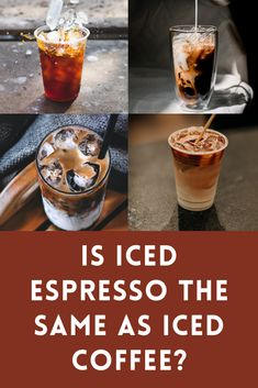 Have you been to your favorite coffee shop recently and noticed a new type of cold coffee you've never tried before? I had a chance to try an iced espresso instead of an iced coffee for the first time and want to tell you about the differences. #coffee #espresso Cold Coffee Drinks, Fresh Coffee, Hot Coffee, Iced Coffee, Coffee Cream, Coffee Type, Black Coffee, Coffee Canister, Coffee Spoon