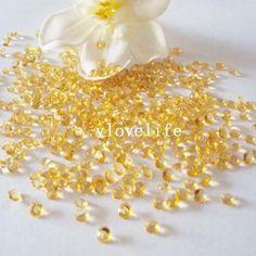 2000 gold crystals £2.05  http://www.ebay.co.uk/itm/2000PCS-4-5mm-1-3ct-Diamond-Table-Confetti-Decoration-For-Wedding-Party-CRYSTALS-/270829215308?pt=AU_Wedding_Clothing&var=&hash=item3f0eadde4c