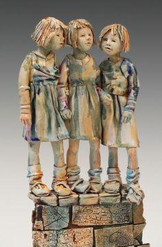 Annie Peaker Ceramic Figures, Clay Figures, Ceramic Artists, Wood Sculpture, Ceramic Sculptures, Stone Art, Annie, Sculpting, Statue