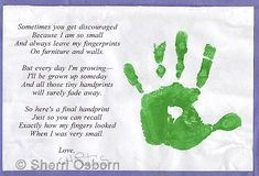 Handprint poem craft