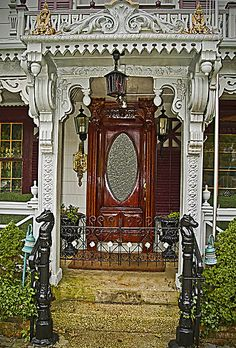 Ocean Grove, NJ...beautiful Victorian entry to dentist's office