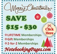NotebookingPages.com Christmas Sale: Save $15-$30 + Giveaway!
