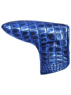 Blue & Black Alligator Putter Headcover http://www.aceofclubsgolfco.com/collections/putter-headcovers/products/blue-black-alligator-putter-headcover-standard-size