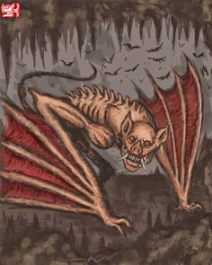 Camazotz- This blood thirsty and huge vampire bat terrorized the natives of Central America. It was known to drink the blood and kill both animals and people. He was even been accused of once committing genocide against the Mayan people.