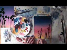 10 Minuten Malerei: Palmen Sonnenuntergang   YouTube
