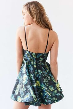 Silence + Noise Hologram Fit + Flare Mini Dress - Urban Outfitters