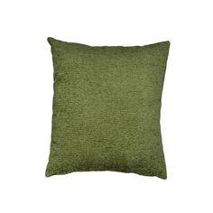Chenille Green Cushion