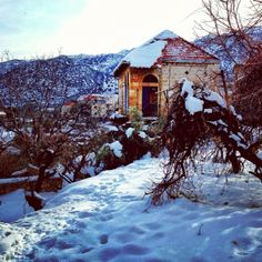Under the Snow, Douma Lebanon Country House, Architecture, Lebanon, Favorite Places, Traditional Architecture, Old Buildings, Building, Country, House Styles
