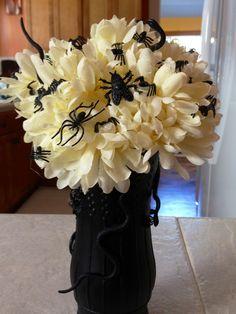 Deranged Flowers centerpiece I made for Halloween
