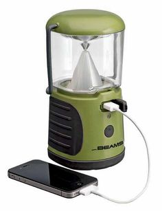 Mr Beams LED UltraBright Lantern charges electronic devices with USB port and stays on for up to 30+ hours. Great for camping, vacations, and hiking trips.