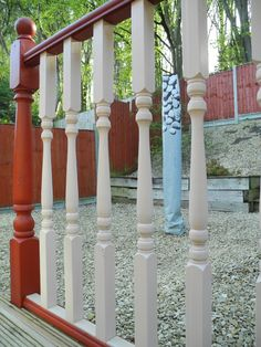 Balustrades was painted with Valtti Opaque by #Tikkurila ref color -2666 #decking #garden #exteriordesign