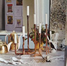 Kerzenleuchter Kupferrohr DIY, Couch Mag