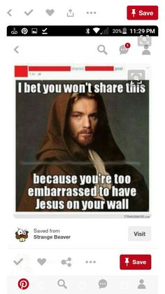 I'm Christiann Don't use jesus to get a share or like from social media. To always see people using this or like for jesus and ignore for satan is wrong. For the record this is not even jesus. No one really know how he look.