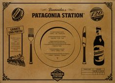 Patagonia Station Placemat by Mariano Diez, via Behance
