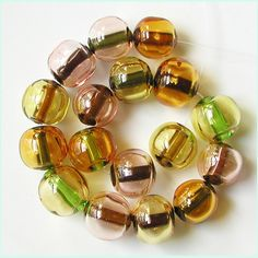 Jeweltone Bubbles 17 petite hollow beads lampwork by by zbeads