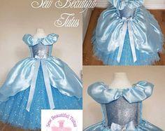 Cinderella Sparkle Glass Slipper Ball Gown Girl tutu dress - Fun Party Outfit Fancy Cute Birthday