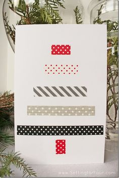DIY Washi Tape Christmas Card from Setting for Four