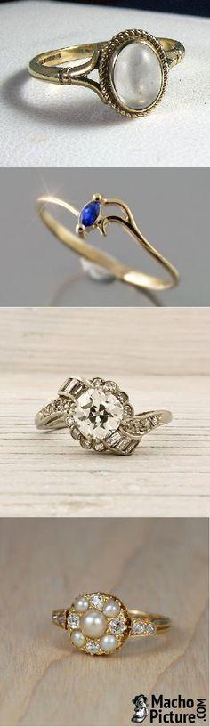 Vintage jewellery rings - 5 PHOTO!