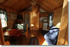 Camping Cabin Interior, Yosemite Ridge Resort