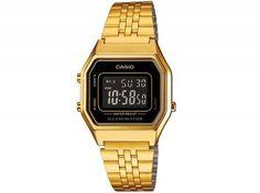 9940cc6284d Relógio Feminino Casio Digital - Resitente à Água Calendário Vintage  LA680WGA-1BDF