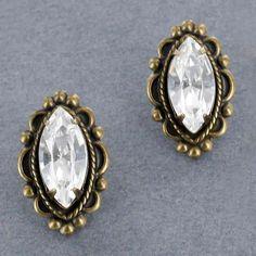 Sadie Green's Vintage Austrian Crystal Stud Earring