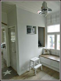 Maalaiskoti Myllyhaassa : Kurkistus keittiöön Ikea, Retro, Kitchen, Furniture, Home Decor, Kitchens, Projects, House, Cooking