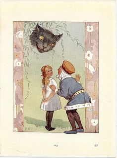 ALICE IN WONDERLAND 1922 Book Page with by wordsandmelodies, $8.00