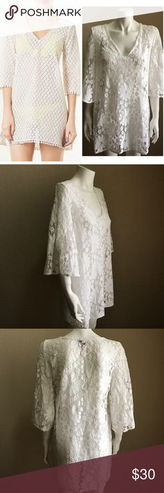 Top shop sunflower lace cover up medium Good condition. Perfect for the summer time Topshop Swim Coverups
