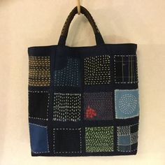 The Beauty of Japanese Embroidery Embroidery Bags, Japanese Embroidery, Embroidery Patterns, Embroidery Scissors, Patchwork Bags, Quilted Bag, Shashiko Embroidery, Boro Stitching, Denim Bag
