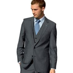 Power suit, power tie, power stare Pinstripe Suit, Well Dressed Men, Business Attire, Wedding Suits, Men Dress, Dapper, Suit Jacket, Wedding Outfits, Business Outfits