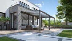Met dit bouwpakket maak je een mooie aluminium overkapping voor boven je terras. Deze Compact Line aluminium terrasaanbouw heeft een afmeting van 304 x 250 cm en is voorzien van twee staanders. De staanders hebben een ingebouwd hemelwaterafvoersysteem. Verder is de terrasoverkapping voorzien van heldere polycarbonaten dakplaten. Daarnaast laat een heldere plaat meer licht door dan een plaat van melkwit polycarbonaat, waardoor je veel zon vangt op je terras. #veranda Conservatory Extension, Diy Terrasse, Roof Covering, Warm Blankets, Outdoor Living, Outdoor Decor, Diy Patio, Aluminium, Wonderful Places