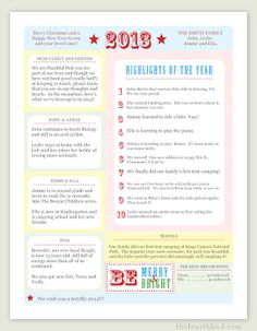 If your going to do a family newsletter this is the best way a year in review christmas letter pdf template be merry spiritdancerdesigns Gallery