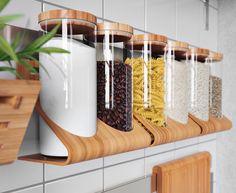 Veggoppbevaring til kjøkken - Ha kjøkkenutstyr lett tilgjengelig - IKEA Ikea Kitchen, Kitchen Interior, Kitchen Dining, Kitchen Decor, Kitchen Appliances, Kitchen Ideas, Cocina Office, Ikea Usa, Concrete Kitchen