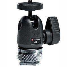 Manfrotto Ballhead Micro 492LCD met Hotshoe | CameraTools.nl
