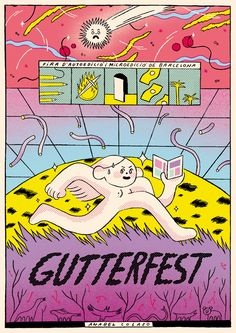 Poster for the fifth anniversary of Gutterfest Visual Aesthetics, Design Art, Graphic Design, Poster Layout, Photoshop Design, Design Reference, Graphic Illustration, My Drawings, Art Prints