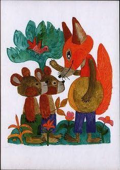 REICH KÁROLY Tale illustration, aquarelle (Meseillusztráció, akvarell) by BI Animal Magic, Children's Book Illustration, Animal Drawings, Drawing Animals, Illustrations Posters, Cover Art, Watercolor Art, Fantasy Art, Book Art
