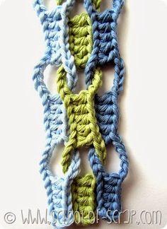 Free Crochet Pattern: Crocodile Stitch          Free Crochet Pattern: Blue Flower           Free Crochet Pattern: Flower Colum...