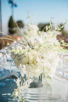 Florals: Wisteria Lane - http://www.stylemepretty.com/portfolio/wisteria-lane-2 Photography: Jillian Rose Photography - www.jillianrosephotography.com   Read More on SMP: http://www.stylemepretty.com/2016/09/12/villa-mara-malibu-wedding/