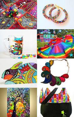 Rainbows make me happy by Felicia Stevenson on Etsy--Pinned with TreasuryPin.com
