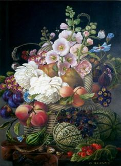 Classical Still Life Oil Painting JEANNE ILLENYE - Still Lifes  nest